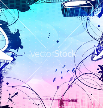 Free urban background with skater vector - Free vector #266529