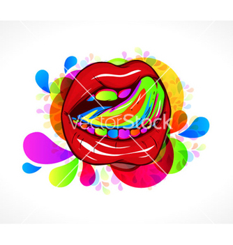 Free abstract colorful mouth vector - Free vector #266549