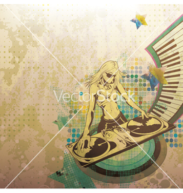 Free dj with turntable vector - Free vector #266569