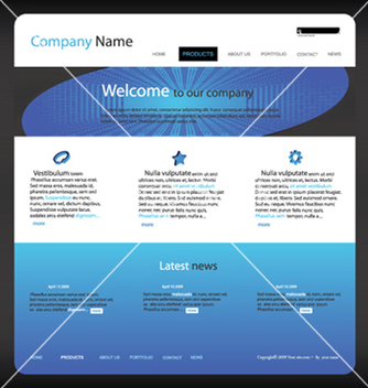 Free editable website template vector - Free vector #266619