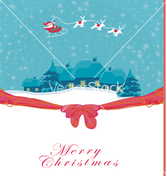 Free happy new year card with santa and winter landscap vector - vector #266719 gratis