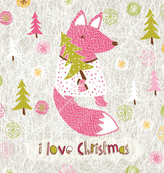 Free love christmas print vector - Free vector #266879