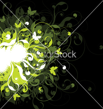 Free bright floral background vector - Free vector #266909
