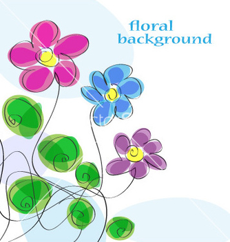Free cute floral background vector - vector #266949 gratis