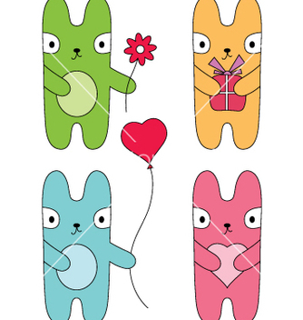 Free four bunnies vector - Free vector #267009