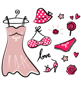 Free fashion retro icons and accessories vector - vector #267019 gratis