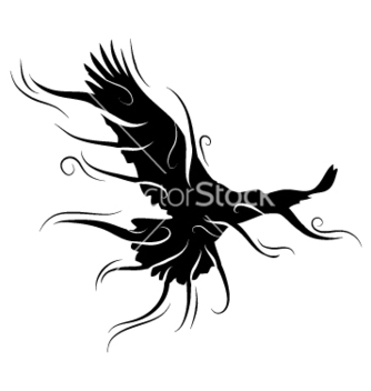 Free black bird vector - бесплатный vector #267229