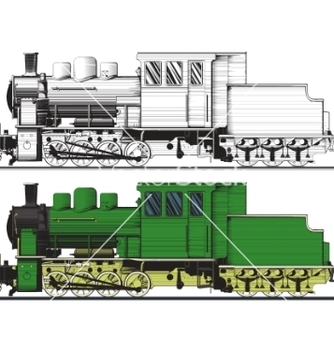 Free an old locomotive vector - vector #267249 gratis