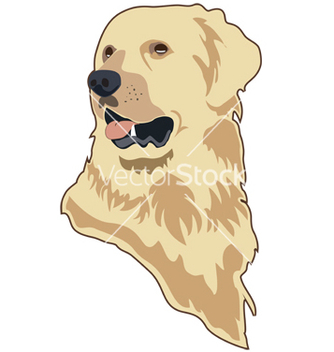 Free golden retriever vector - vector gratuit #267259