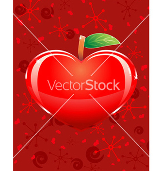 Free appleshaped heart vector - бесплатный vector #267279