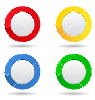 Free round buttons vector - Free vector #267379