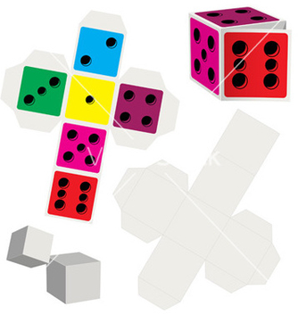 Free paper dice vector - Free vector #267389