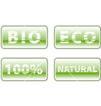 Free bio buttons on the white vector - vector gratuit #267449