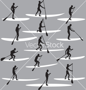 Free stand up paddle boarding vector - vector gratuit #267499