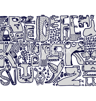 Free alphabet sketch vector - бесплатный vector #267689
