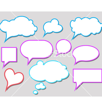Free bubbles for speech vector - Free vector #267709