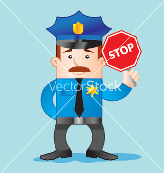 Free traffic police vector - Free vector #267719