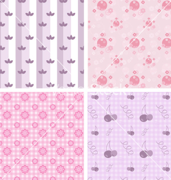 Free girly patterns vector - vector #267729 gratis