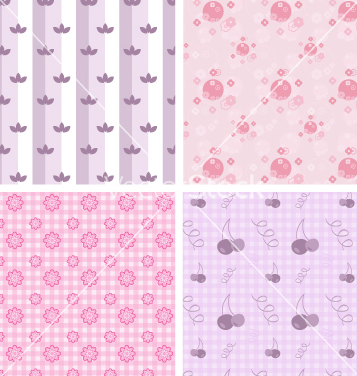 Free girly patterns vector - vector gratuit #267729