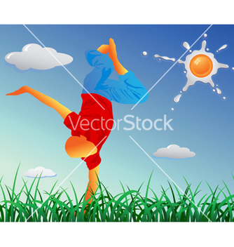 Free breakdancer vector - vector gratuit #267739