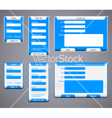Free web elements vector - Free vector #267909
