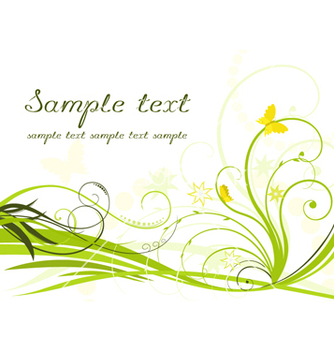 Free floral background vector - Free vector #268029
