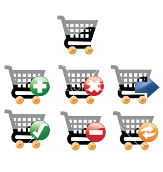 Free cart icons vector - Free vector #268049