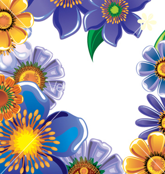 Free floral background vector - Free vector #268129