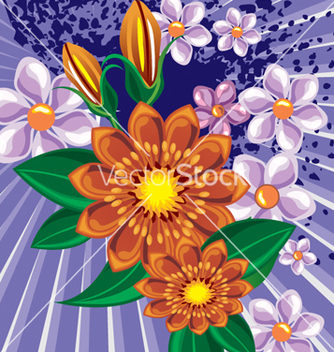 Free floral background vector - Free vector #268139