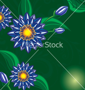 Free floral background vector - Free vector #268159