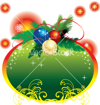 Free christmas frame vector - Free vector #268239