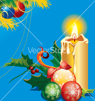 Free christmas candle vector - бесплатный vector #268249