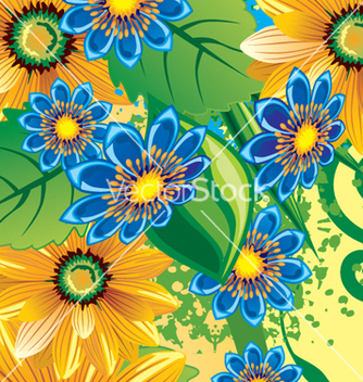 Free floral background vector - Free vector #268269