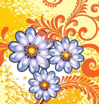 Free floral background vector - Free vector #268289