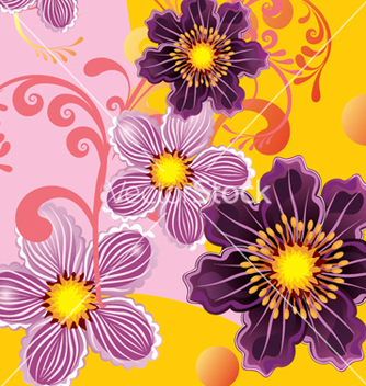 Free floral background vector - Free vector #268319