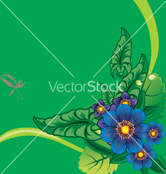 Free floral border vector - Free vector #268489