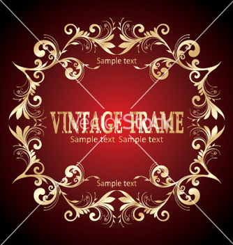 Free vintage frame vector - Free vector #268879