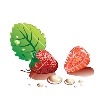 Free strawberry vector - vector gratuit #268919