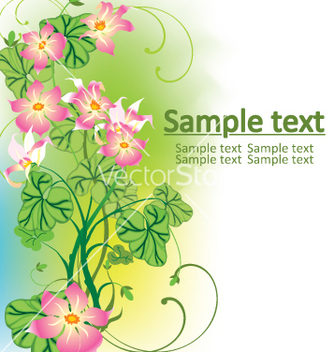 Free floral background vector - Kostenloses vector #268949