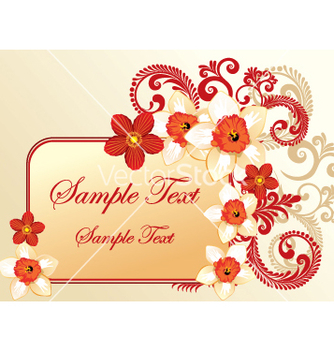 Free floral frame vector - Free vector #269339