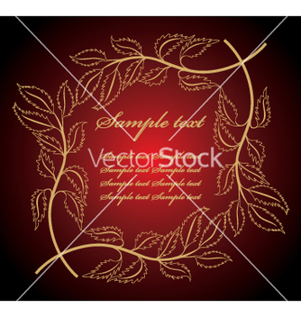 Free floral frame vector - Free vector #269359