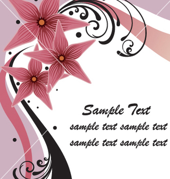 Free floral border vector - Free vector #269459