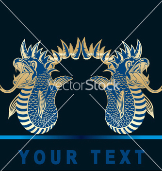 Free golden dragon vector - Free vector #269609
