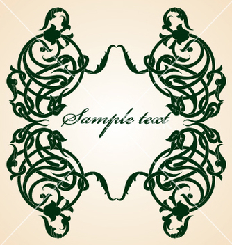 Free floral frame vector - Kostenloses vector #269649