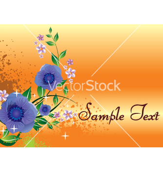 Free floral background vector - Free vector #269659