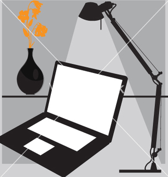 Free desk laptop vector - vector gratuit #269769