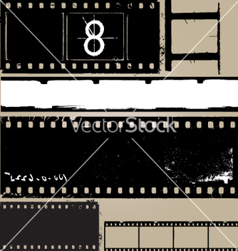 Free grunge film elements vector - Free vector #269949