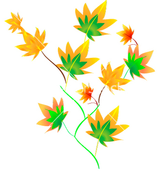 Free autumn leaves vector - Free vector #270019