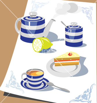 Free time for tea vector - vector gratuit #270129