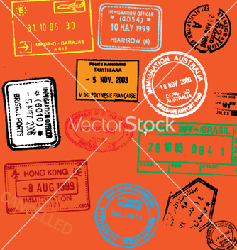 Free passport stamps vector - vector gratuit #270339